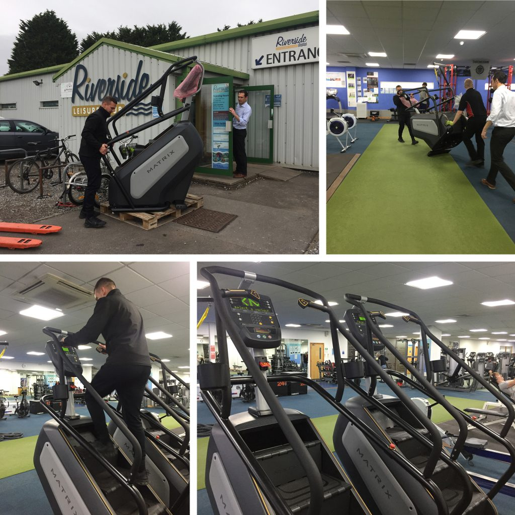 Two Stairmasters being delivered to Riverside Bristol
