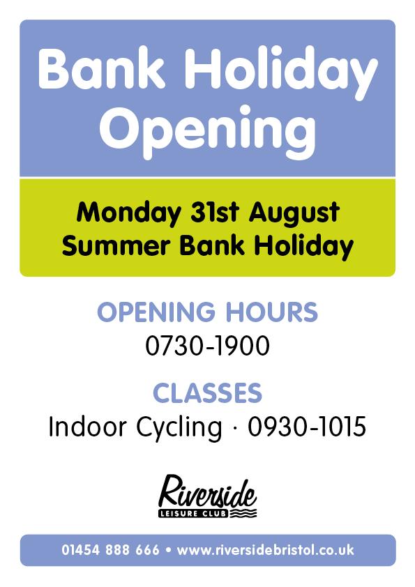 Open 0730-1900 Indoor Cycling 0930-1015